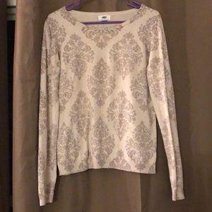 Damask pattern sweater